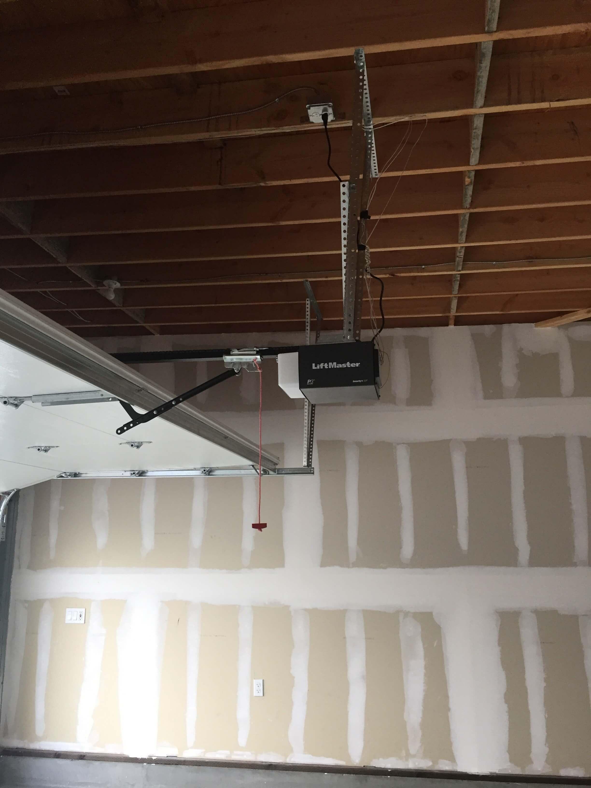 Drywall & Motorized Garage Door