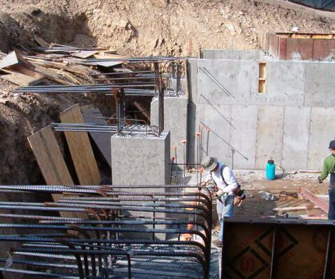 2 AMRON reinforced concrete foundation